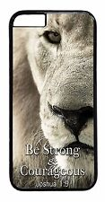 New Christian Bible Verse Faith Joshua Lion Back Case Cover For iPhone Devices