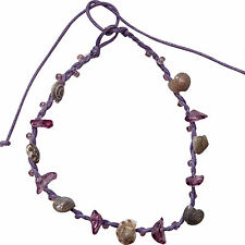 Lavender Ankle Bracelet Beach Shell Foot Anklet Chain Ladies Kids Feet Jewellery