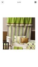 Bacati Mod Dots Cotton Rod Pocket Curtain Panel DOTS Not Stripes Baby NEW