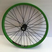 Alex Rim DM 22 Lime Green Front Wheel BMX Old School  6061 H-T6