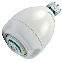 Niagara Conservation N2920 Earth Spa 2.0 GPM Showerhead, White Fixed Shower Head
