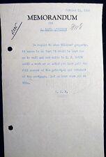 1929 FRANKLIN DELANO ROOSEVELT TO BASIL O'CONNOR LEGAL ADVISOR