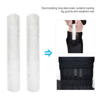 15/25cm 2Pcs Plated Steel Plate Adjusted Weight Vest and Leg Shin Guard Tool New