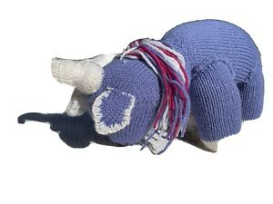 Mini Unicorn Only 51 cm when standing - hand knitted in 100% Wool