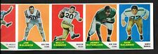 1960 FLEER Football Uncut Full 11 Card Sheet BILLY CANNON Rookie Flowers NICE!!