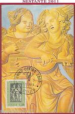 ITALIA MAXIMUM MAXI CARD ROMA 48 AGOSTINO DI DUCCIO NATALE 1973 ANN. TORINO B766