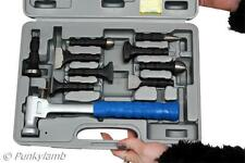 10pc Hammer Set Interchangeable Heads Body Repair Sheet Metal Working Garage
