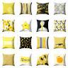 GX- Home Decor Throw Pillow Case Yellow Flower Geometric Sofa Cushion Cover Intr