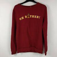 "DISNEY Winnie The Pooh ""Oh Bother' Burgundy Sweater/Sweatshirt - Size: S (10-12)"