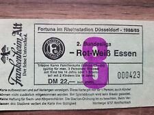 Ticket  Fortuna Düsseldorf : Rot Weiß Essen    Saison  1988/89 Rheinstadion