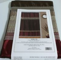 "New Creative Bath  Mystique Fabric Shower curtain earth tone colors 70"" x 72"""