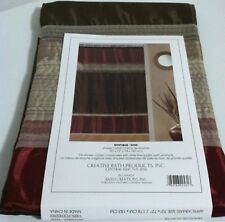 "New Creative Bath  Mystique Fabric Shower curtain earth tone colors 70"" x 72"""