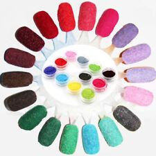 New Pro Velvet Flocking Powder Dust Nail Art UV Gel Polish Tips DIY Manicure