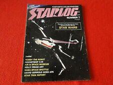 Vintage Science Fiction Magazine Star Log Aug. 1977 #7 Star Wars Robby Robot 6