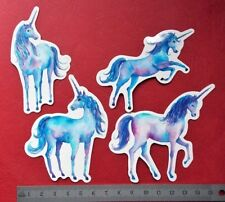 "Pegatina ""Azul Unicorn"" Aspecto Brillante Pegatinas Portátil Habitación De Niño"