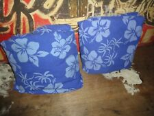 JOE BOXER BLUE TROPICAL FLORAL HIBISCUS (2PC) TWIN FLAT & FITTED SHEET SET