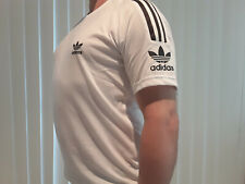 Adidas T-Shirt New 3-Stripes On Sleeve And Logo White With Tags 2020