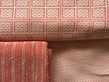 Vtg 70s Double Knit Polyester apparel fabric Coral/salmon 3 pcs matching NEW