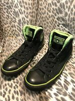 CONVERSE CHUCK TAYLOR ALL STAR LEATHER HEEL HIGH TOP - BLACK - SIZE 9 US MEN