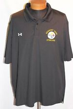 Under Armour Heat Gear Men's Black Newbury Park Steelers Polo Shirt XXL NWOT