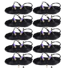 10 x 100 ft Cctv Hd Pre-made Video Power Cable Security Camera Wire Bnc Cord md3