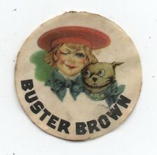 1920s Buster Brown and Dog Advertising Sticker