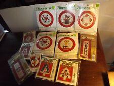 Lot 12 Christmas Cross-Stitch Kits MIP Unused