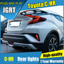 2018 2019 New Taillight Assembly For Toyota C-HR Dark / Red LED Rear Lamps Refit