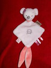 Doudou Plat Attache Tétine Souris Valentine Rose Brodé Hibou Nattou
