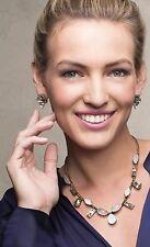 "❤️SILPADA ""Crystal Clear"" Necklace & Earrings Set Swarovski 18-20"" NWT"