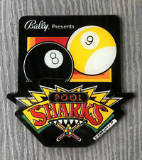 Pool Sharks Pinball Promo Key Chain Plastic 8 & 9 Balls Vintage  Bally NOS