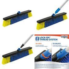 Lock On 20 In. All Surface Push Broom Vinyl-Coated Steel Handle Ensures