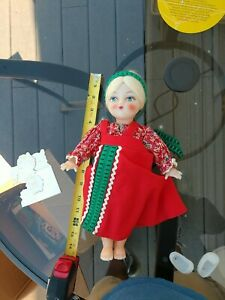 """Vintage plastic body doll baby girl 13.5"""" tall"""