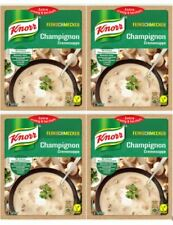 Knorr Cream of MUSHROOM Gourmet Soup Mix, FOUR PACK: 4X 45g Packs, German Import