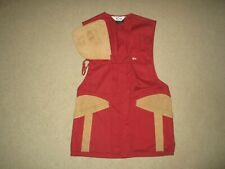 """10X HUNTING VEST RED BEIGE SMALL CHEST 34""""-36"""" POLYESTER COTTON USED"""