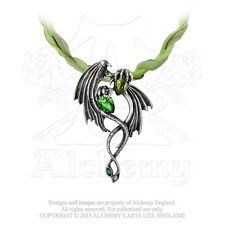 P676 THE EMERALD DRAGON CHOKER BY ALCHEMY GOTHIC OF ENGLAND
