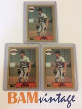 Will Clark RC 1987 Topps Rookie 3 Baseball Card LOT San Francisco Giants MLB ⚾️