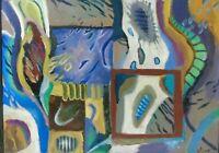 "Russischer Künstler der Modernen ""Expressive Komposition"" Öl, 1990, signiert"