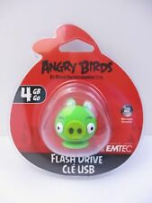 """EMTEC - 4 GB USB 2.0 FLASH DRIVE - ANGRY BIRDS """"PIG"""" - NEW UNOPENED"""