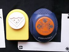 Lot of Corner Punches Fiskars 3 Designs Fowers and All Night Media Scallop Stars