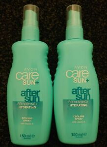 2 X 150ml Avon Care Sun Cooling After Sun Spray Lotion With Vitamin C.