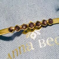 SOLD OUT! ANNA BECK 18 K GOLD PLATED STERLING SILVER HEMATITE BRACELET