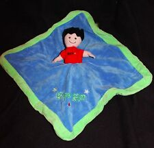 Rock Super Star Guitar Lovey Security Blanket blue green boy baby baby essential