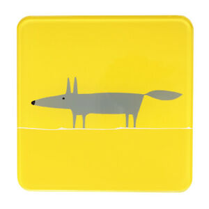 Scion Mr Fox Yellow Pot Stand Trivet Pan Rest Heatproof Glass Surface Protector