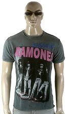 Amplified THE RAMONES group picture Strass Rock Star Vintage buchi T-Shirt G. xl