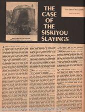 Siskiyou Slayings, DeAutrement,Heinriuch,Marrett,Seng