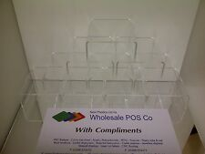 10 x CLEAR ACRYLIC PERSPEX STANDS FOR RETAIL OR COLLECTOR DISPLAY CABINETS