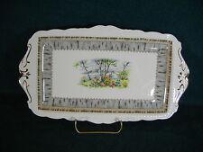 "Royal Albert Silver Birch 11 1/2"" Rectangular Handled Sandwich Tray"