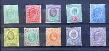 GB Edward VII m/mint selection of 10 different values.
