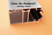 Alu - Komplett - Verlegeprofil 16mm für Stegplatten Randprofil incl. Dichtung